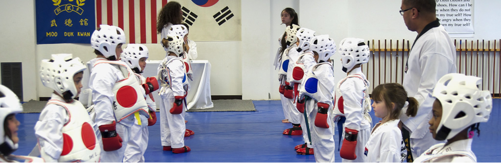 Children in Taekwondo